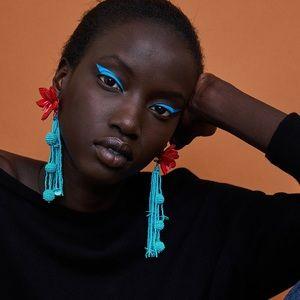 Zara floral earrings
